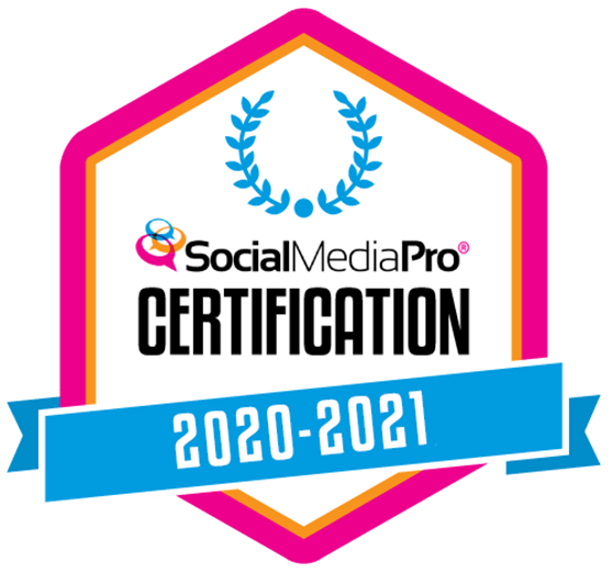 social media pro certification badge
